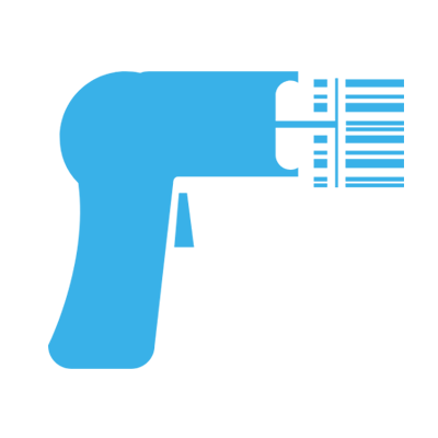 An icon of a blue hair dryer signifying the point of sale management from Neko Salon Software.