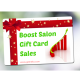 A gift card with boost salon gift card sales.
